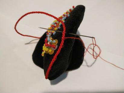 Portmonetka z czarnego aksamitu