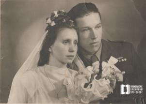 Portret ślubny Marii i Henryka Kowalskich