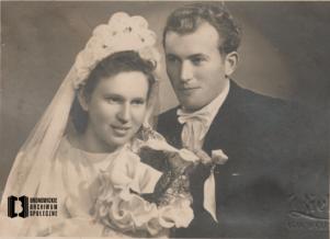 Portret ślubny Aleksandry i Jana Nowaków