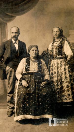Piotr Trąbka, Katarzyna Trąbczyna i ich córka Bronisława Trąbczanka (Cichońska)