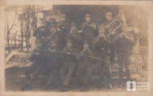 Orkiestra wojskowa, portret zbiorowy