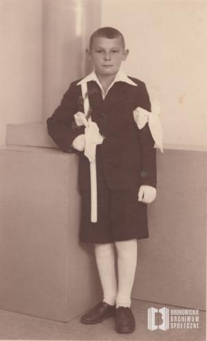 Uroczystość pierwszej komunii świętej, portret Jerzego Bierlita