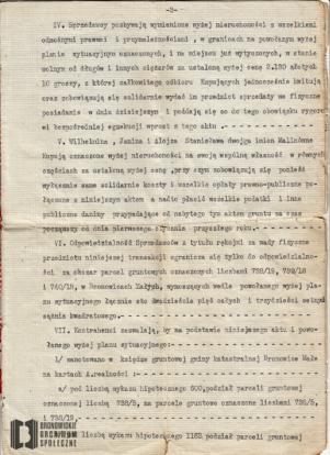 Dowód nabycia parceli przy ob. ul. Przybyszewskiego 47