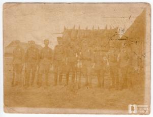 Żołnierze I Brygady Legionów Polskich pod dowództwem Józefa Piłsudskiego