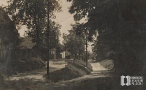 Ul. Zielony Most. Widok od strony ul. Katowickiej