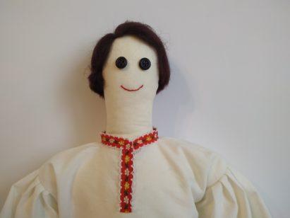 Koszula dla lalki krakowiaka