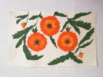 Tkanina malowana odręcznie